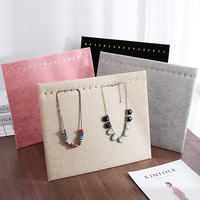 Hot 4 colour 17 Hook Necklace Display Board Velvet Jewelry Display Stand Necklace Rack Earrings Pendant Display Props Wholesale