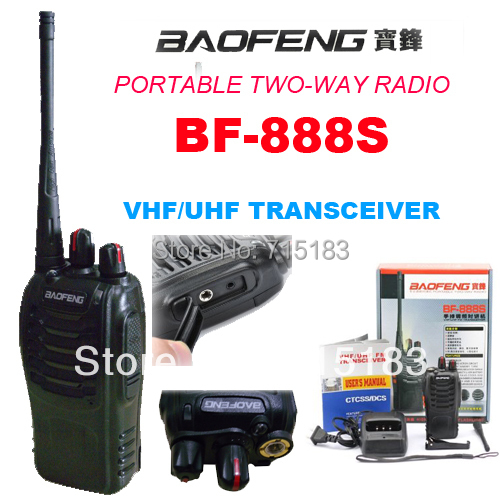 BaoFeng BF-888S Walkie Talkie 888S UHF 400-470MHz Baofeng BF 888S Two Way Radio 16CH  Freeshipping