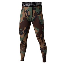 Men Compression Base Layer Camo Pants Leggings Fitness Sports Training Trousers 2016