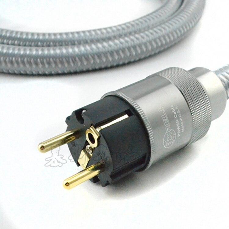 Américain Kile K fièvre importé cordon d'alimentation câble d'alimentation hifi standard Américain CD audio amplificateur ampères UE câbles d'alimentation