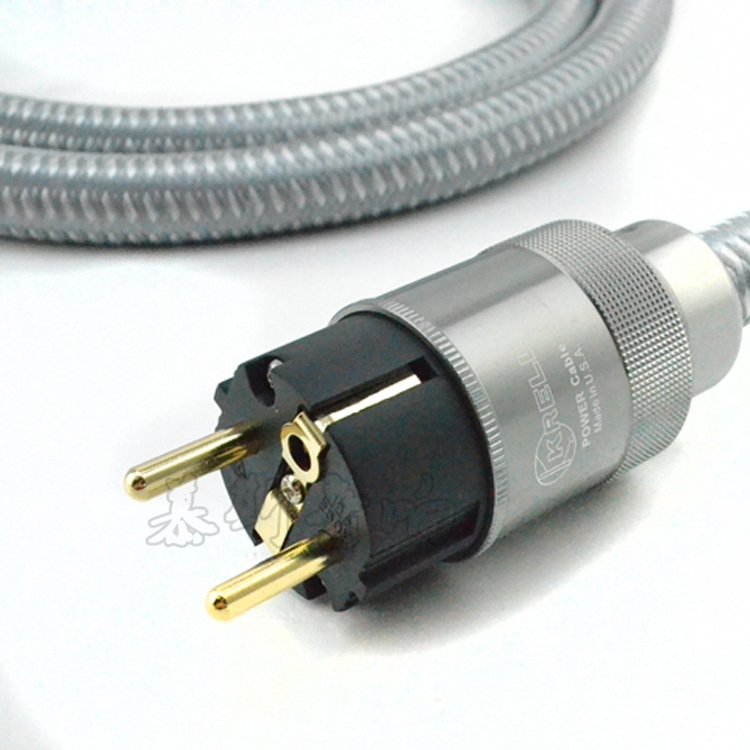 American Kile K fever imported power cord power cable hifi American standard audio CD amplifier amp EU power cables silver 10ft acoustic electric guitar cable bass cable amp lead cord amplifier cable audio connection cables
