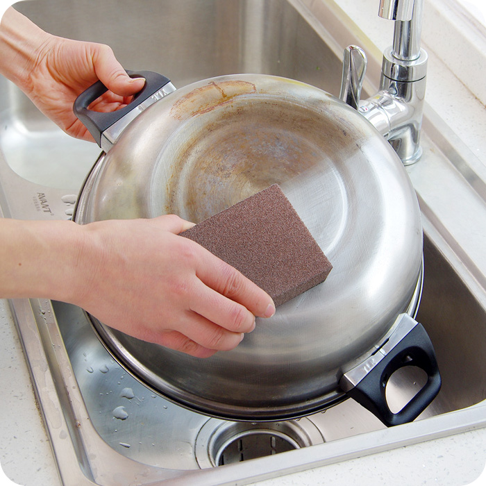 Nano carborundum magic sponge magic magic pot descaling cleaning sponge wipe decontamination sponge to wipe the rust