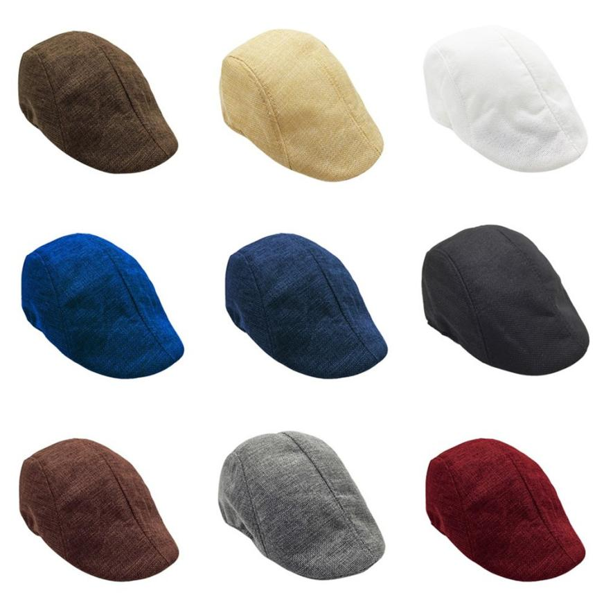 Snowshine4 # 5001 2018 New Men Summer Visor Hat Sunhat Mesh Running Sport Casual Breathable Beret Flat Cap 9 Color Free Shipping(China)