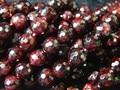 Wholesaleg (2 fios/set) Naturais Encantos 10mm Red Garnet Facetada Rodada Solta Pérolas Pedra