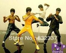 New Arrival High Quality  Pop toys PVC action figures Bruce Lee Kung Fu Pose 4pcs/set