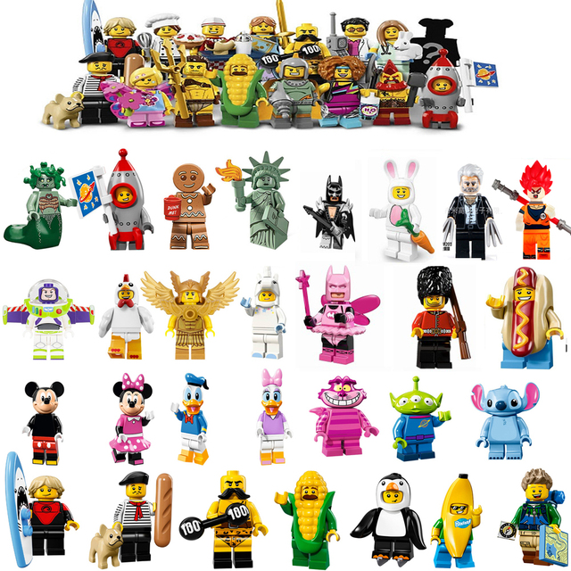 Limited Edition 17 Buzz Lightyear Gingerbread Chicken legoings Unicorn Man Unicorn Rocket Boy Building Blocks Model Bricks Toys