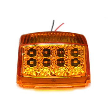 7 Pack Amber 17LED Roof Running Top Clearance Reflector Lights