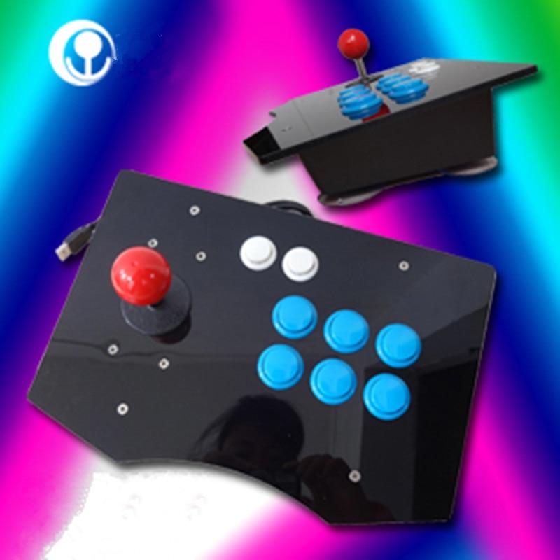 2016 nuovo caldo di alta qualità specchio acrilico pc usb arcade joystick gamepad game controller joypad, plug and play spedizione gratuita