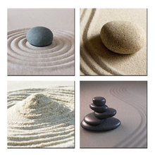 HD Canvas Modern Wall Decor Painting Zen Garden Stone And Pebbles Stack Over Giclee Print Artwork 4 Piece Still Life Pictures(China)