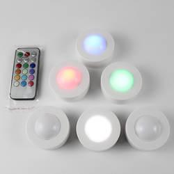 Светодиодный затемнения под свет шкафа Цвет Изменение RGB Кухня шкаф гардеробный шкаф огни прикроватные ночник для спальни lampka