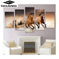 5d diy diamond embroidery horse running 3d diamond painting Cross Stitch full drill Rhinestone mosaic home decoration 5pcs/set