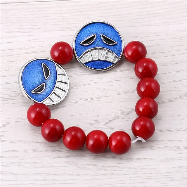 Julie One Piece Ace Red Beads One Direction Bracelets For Women Men Jewelry 2016 New Arrival Bangle Accessories Pulseras JJ11565