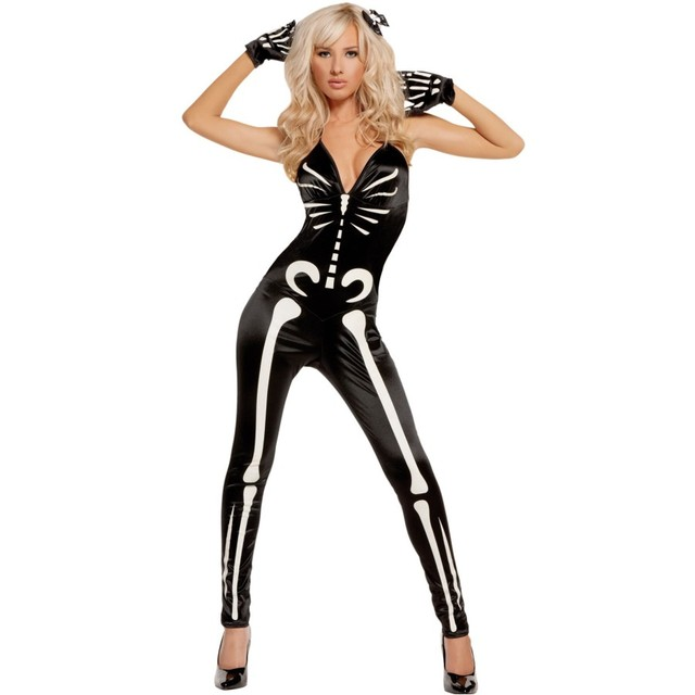 Adult Halloween Costumes for Women Sexy Glow Scary Skeleton Costume SA89024  sc 1 st  AliExpress.com & Adult Halloween Costumes for Women Sexy Glow Scary Skeleton Costume ...
