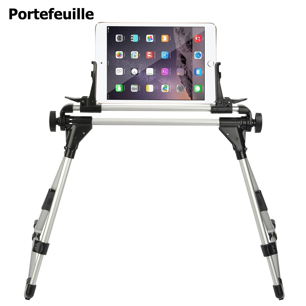 Portefeuille Universal Tablet Bed Stand Holder Frame for iPad Pro Mini iPhone 7 8 Plus 6 6S Samsung Galaxy Tab Mount Accessories