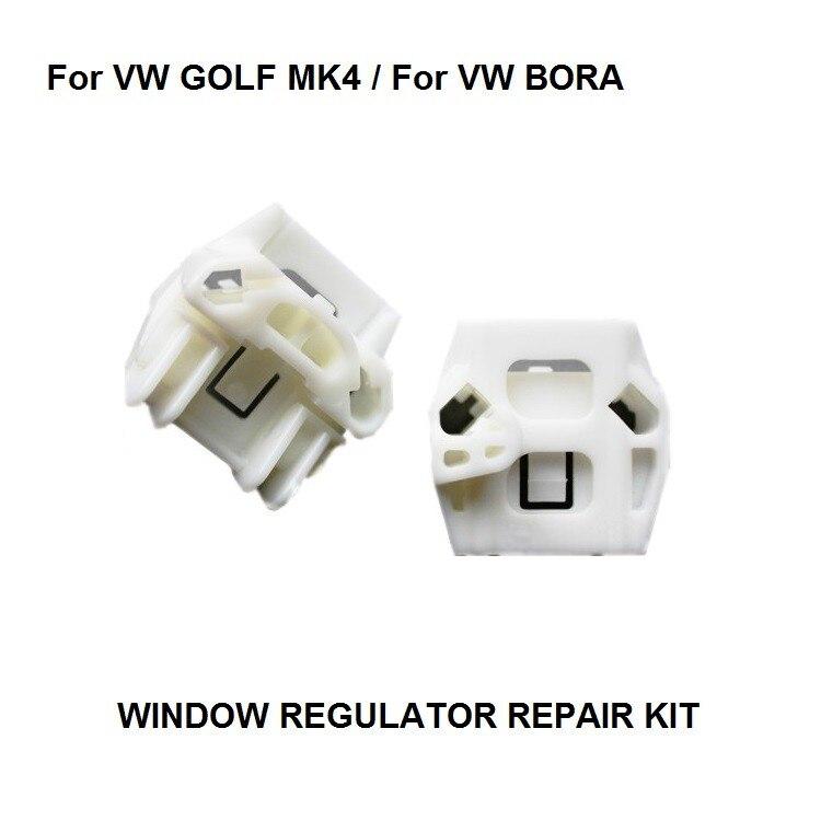 WINDOW REGULATOR COMPLETE KIT SET For VW MK4 GOLF BORA WINDOW REGULATOR REPAIR KIT FRONT-RIGHT WINDOW REGULATPR CLIP 1997-2006