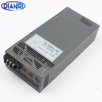 DIANQI power suply output 12V 13.5V 15V 24V 27V 36V 48V 60V 72V 90V 110V 1000w power supply transformer ac to dc power supply