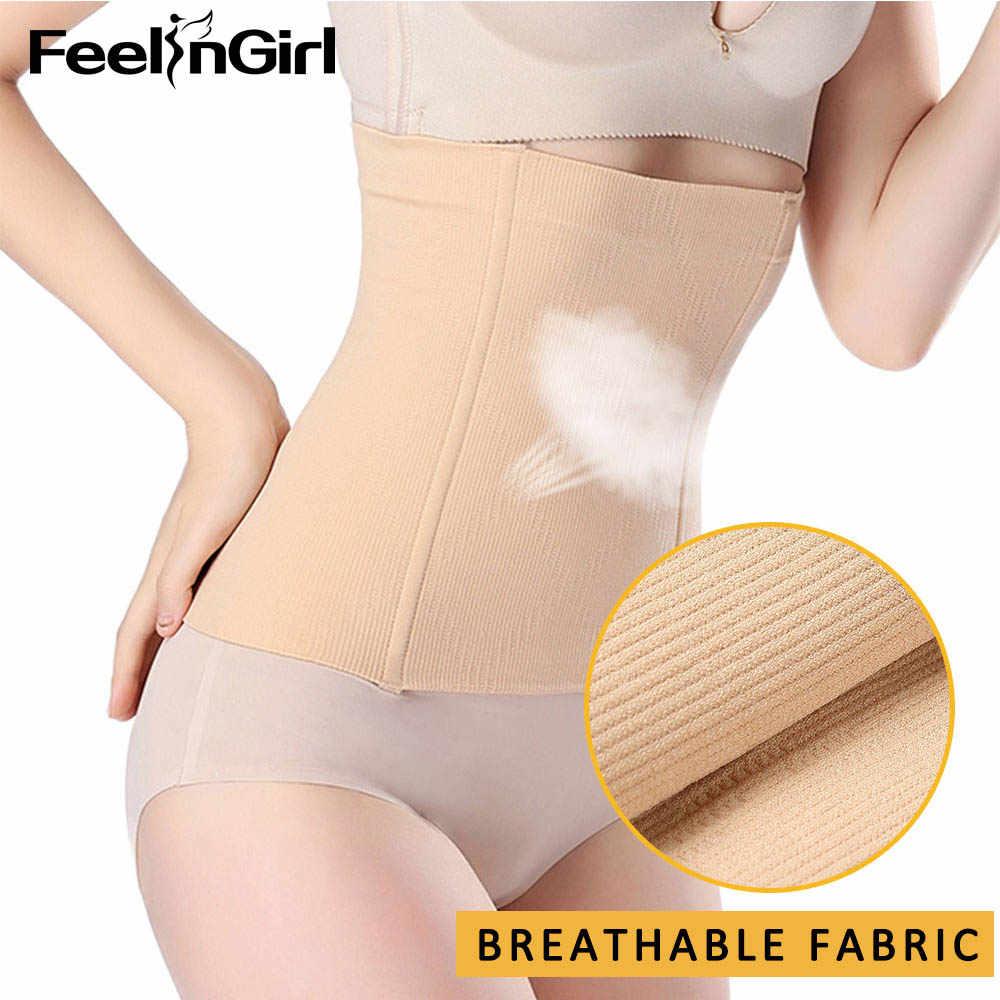 FeelinGirl твердый контроль Талии Тренажер корсет массажный пояс для снижения веса тела формирователь бесшовный послеродовый моделирующий ремень Корректирующее белье