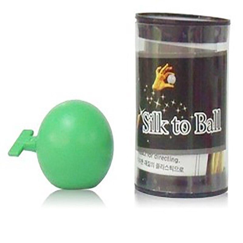 Incroyable soie à la balle de corée du sud boule de soie tours de magie vert un pour spectacle de magie