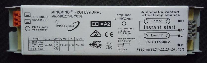 T8 2x58w 110v High Performance Electronic Ballast Ballast Voltage Ballastt8 Led Aliexpress