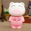 The Smiling pig pig Cartoon LEDs Folding Rechargable Reading Desk Table Bedside Lamp Light Free Shipping