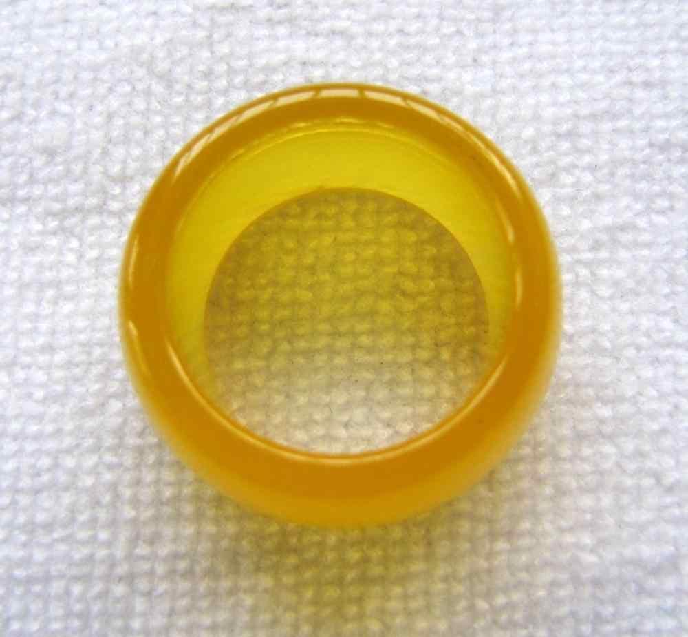 2016ใหม่จีนสีเหลืองธรรมชาตินิลหยกแหวนขนาด9.5 #-10.5 #