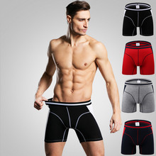 Long leg Men Boxer Homme Slip Panties Men's Underpants Male Underwear B