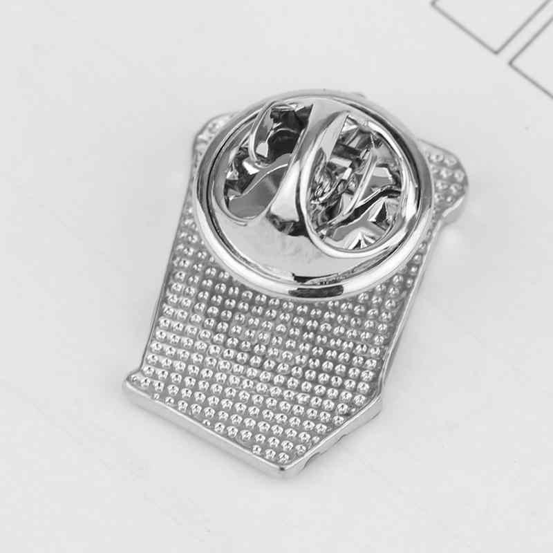 Fashion Dokter Yang Polisi KOTAK Bros Persegi Panjang Bentuk Rumah Mantel Topi Enamel Pin Bros untuk Wanita dan Pria Perhiasan hadiah