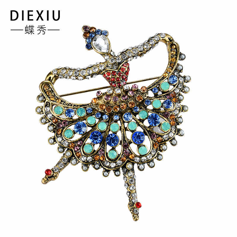 8d2987040 ... 2018 Dance Girls Fashion Trendy Charming Beautiful Princess Ballerina  Brooch Bling Crystal Pins Jewelry Accessories