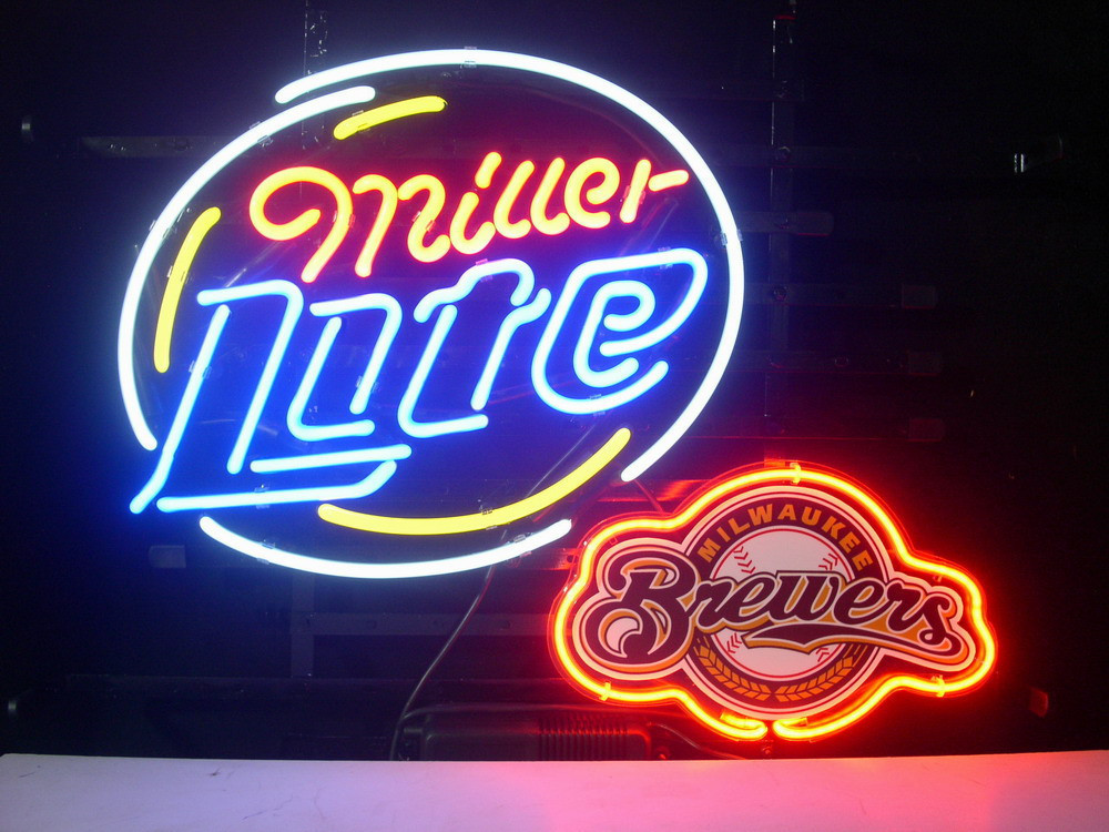 Business NEON SIGN Signboard Store For MILWAUKEE BREWERS