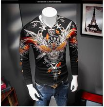 Stylish men sweater slim casual personality Tiger Print thin sweater hot sale autumn men fashion PU887