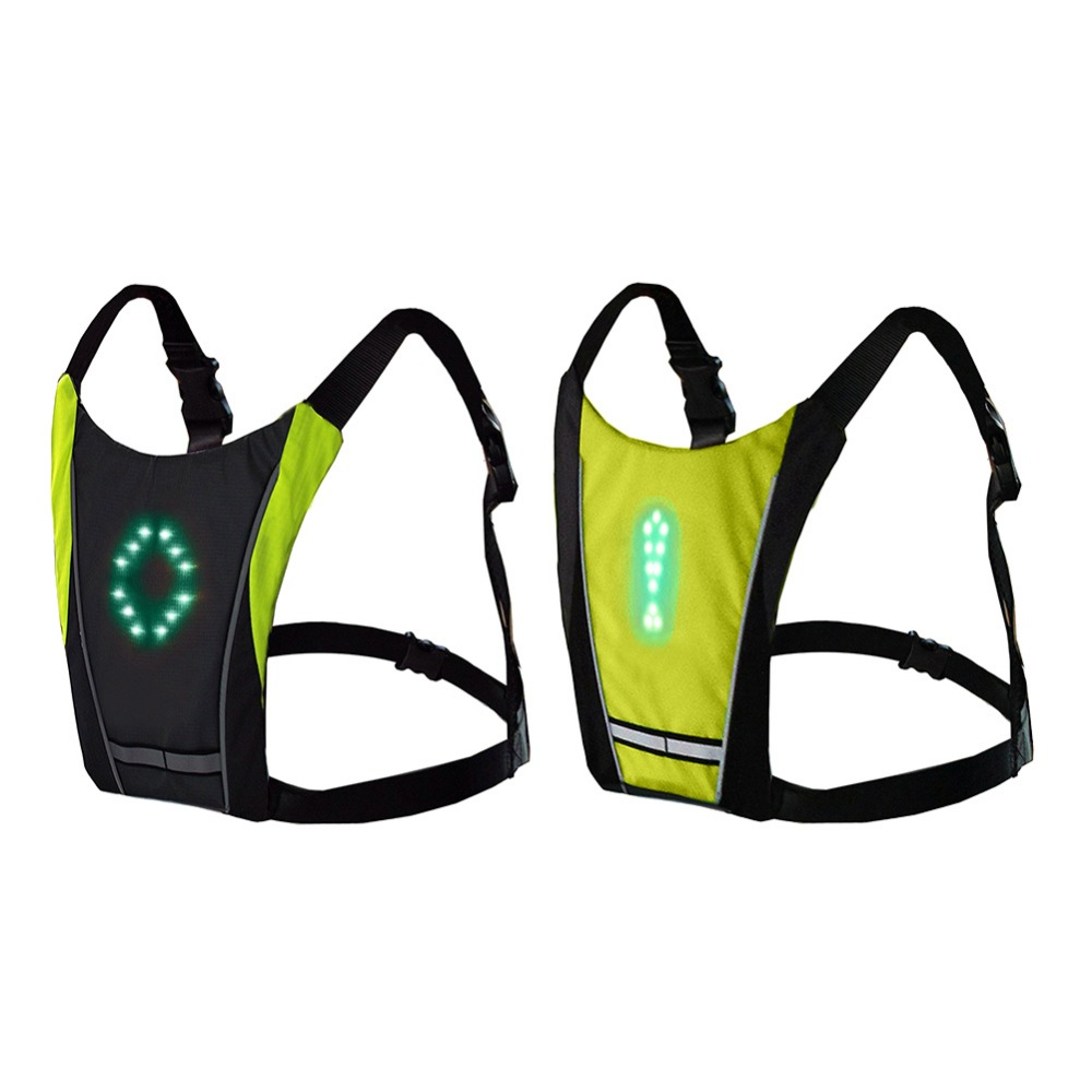 Cycling Back To Search Resultssports & Entertainment Special Section Led Wireless Cycling Vest Safety Led Turn Signal Light Bike Bag Safety Turn Signal Light Vest Bicycle Reflective Warning Vests