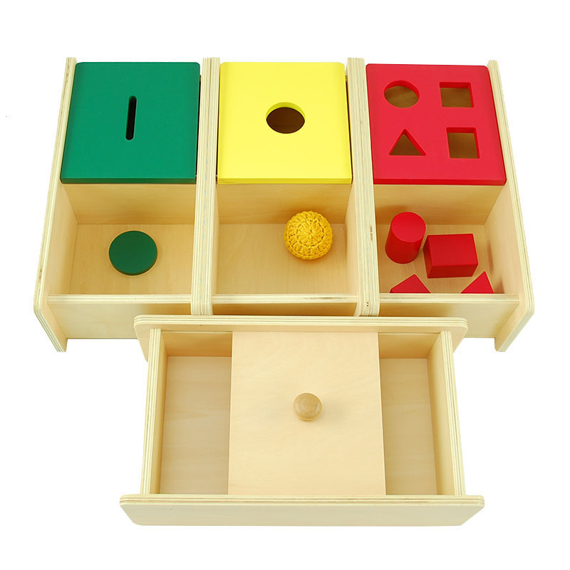 Montessori Games Baby Toys For Children Educational Wooden Toys Box Wood Products Kids Sensory Toys Infants Boxes Birthday Gift