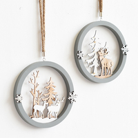 Nordic Style Creative Fashion Home Decorations Three Dimensional Elk Wooden Fiberboard Wall Hanging Decor