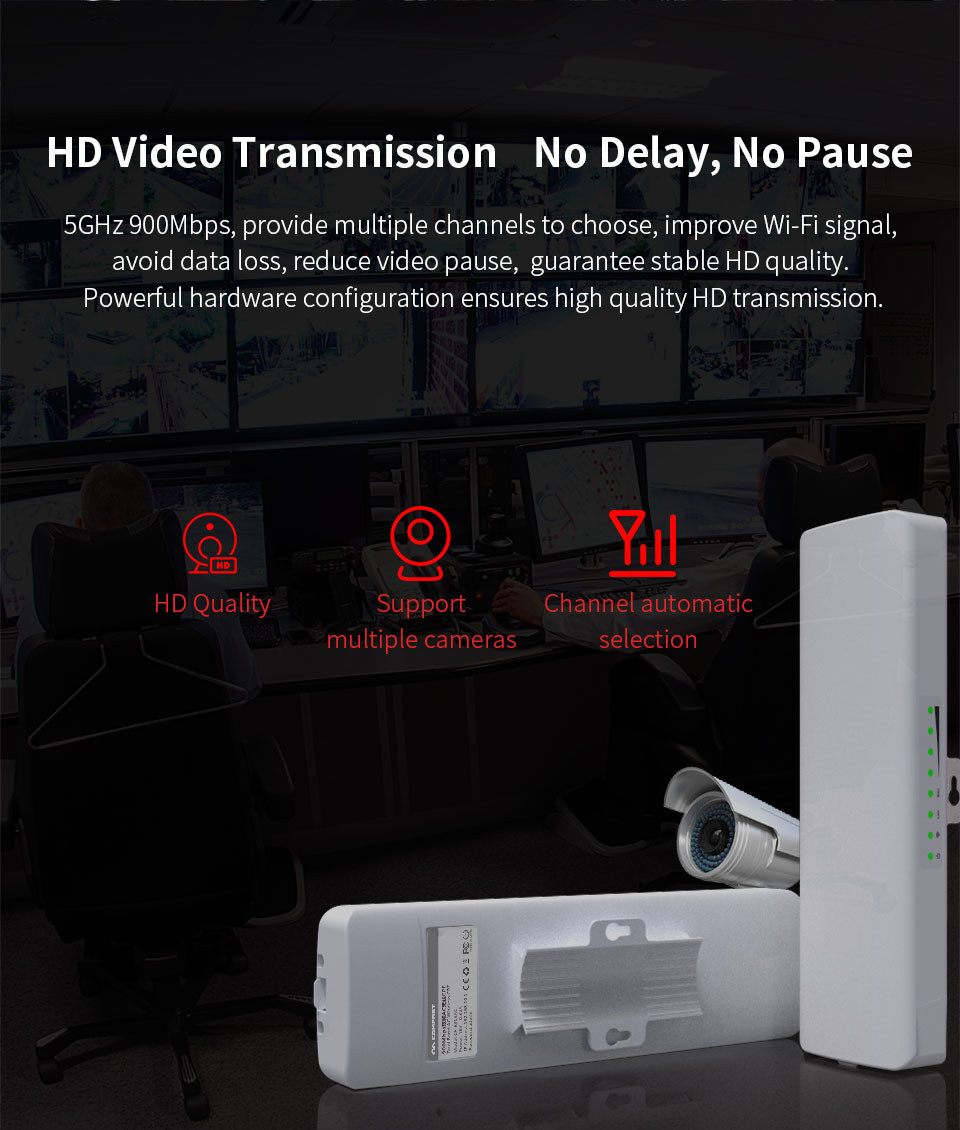 Image 2 - 900Mbps COMFAST CF E313AC 5km Long Range High Power Wireless bridge CPE 5.8G WIFI Signal Booster Amplifier Repeater ap router-in Wireless Routers from Computer & Office
