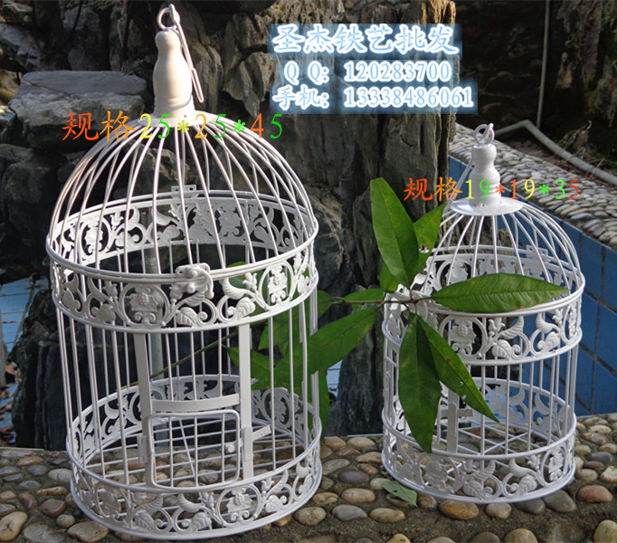 fashion iron wrought birdcage white decoration hanging bird cage in bird cages nests from home. Black Bedroom Furniture Sets. Home Design Ideas