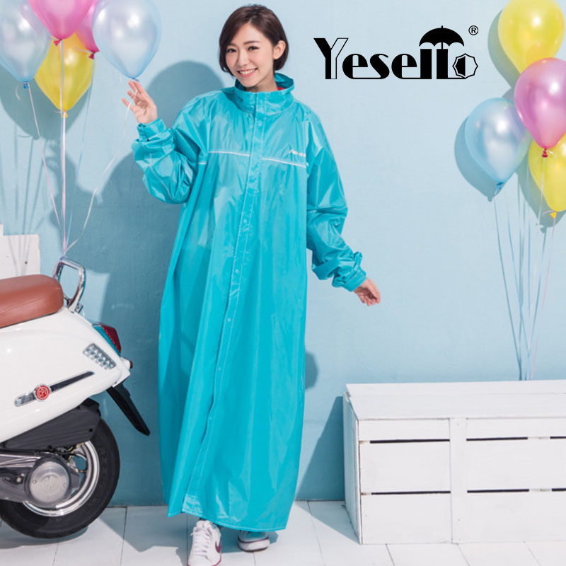 Yesello Fashion PVC Women Raincoat Thickened Waterproof Rain Coat Women Clear Blue Camping Waterproof Rainwear Suit