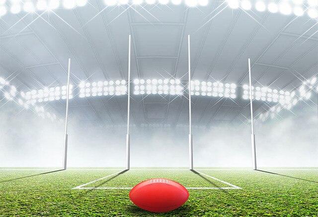 7x5FT футбол footabl поле Красный Регби стадион цель пользовательские фотостудии небольшие студийные фоны винил 2,2x1,5 м