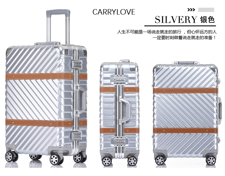 CARRYLOVE Metal texture, high quality 20/24/26/29 inch size PC Aluminum frame Noble, perfect Rolling Luggage CARRYLOVE Metal texture, high quality 20/24/26/29 inch size PC Aluminum frame Noble, perfect Rolling Luggage