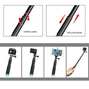 Image 3 - לירות נייד Selfie מקל להאריך חדרגל לgopro 9 8 7 5 שחור Xiaomi יי 4K Sjcam M10 Sj8 eken H9 מצלמה ללכת פרו אבזר