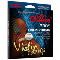1 Set Original Alice Professional Violin Strings Plated High Carbon Steel Alumimum Alloy Wound And Silver