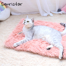 Soft Plush Sleeping Dog Bed For Small Medium Large Dog Cat  Breathable Warm Bed Blanket Puppy Chihuahua Teddy Pet Dog Bed Mat teddy in bed