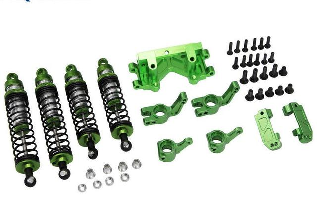 US $89 0 |X Spede Traxxas Slash Rustler Stampede Green Suspension Tuning  Hop Up XPTE929P05-in Parts & Accessories from Toys & Hobbies on