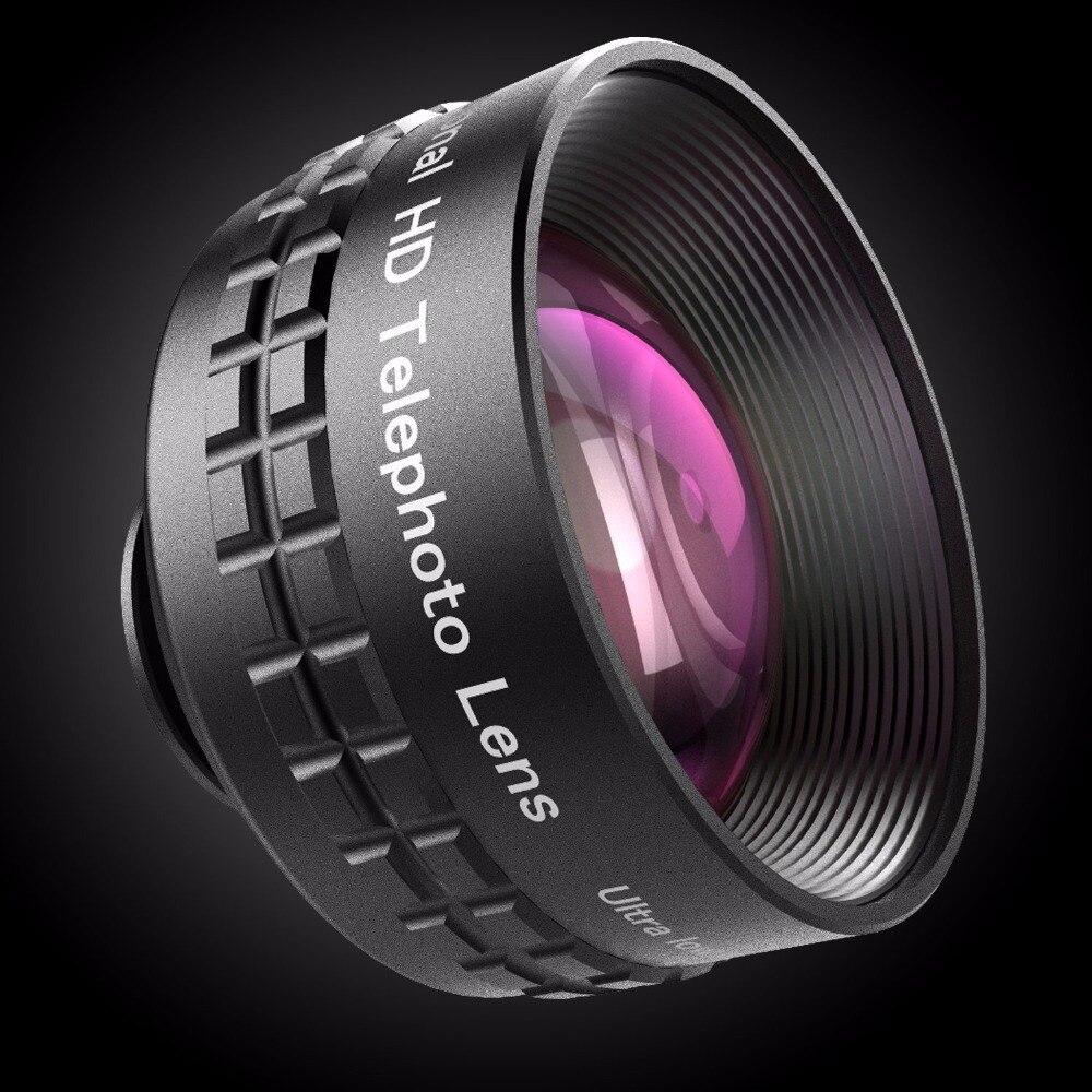 imágenes para Aukey óptica pro lente 2x hd teleobjetivo lente de la cámara kit de teléfono celular 2x tan cerca sin distorsión sin ojeras para htc iphone 7 & más