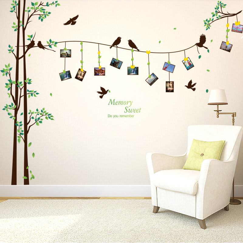 [Fundecor] 205*290cm/81*114in Large Photo Tree Wall Stickers Home Decor  Living Room Bedroom 3d Wall Art Decals Diy Family Murals In Wall Stickers  From Home ... Part 58