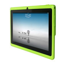Yuntab Q88 7 Inch Wifi  Green  Color Tablet Android 4.4, Quad Core, 8G ROM 1G RAM,Dual Camera, External 3G, Allwinner A33