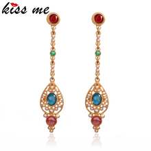 KISS ME Hollow Simulated Pearls Water Drop Earrings 2017 Brand Luxury Jewelry Women Accessories