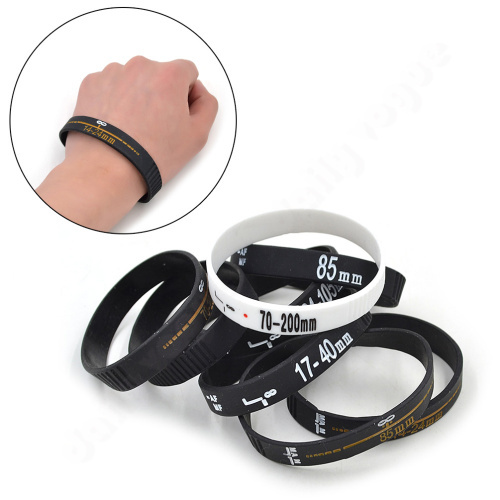New Fashion men women unisex silicone bracelet solid DSLR camera shot print wristband bracelet