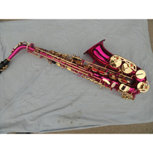 E Flat Alto Pink Gold Plated Saxophone For Student High Quality High F # Saxophone With Case Customizable Brand With Mouthpiece