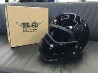 Men Motorcycle Helmet TT CO Japanese Thompson Motorcycle Helmet Full Face Helmet Ghost Rider Helmet