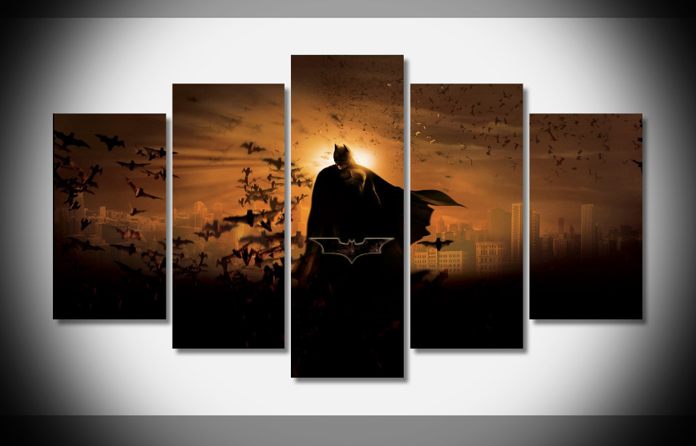 6783 batman bats movie poster Framed Gallery wrap art print home wall decor wall picture Already to hang digital print